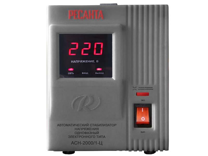 Стабилизатор напряжения Ресанта  ACH-2000/1-ЦСтабилизаторы напряжения<br><br><br>Тип: стабилизатор напряжения