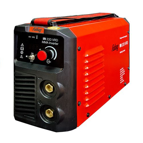 Сварочный аппарат FUBAG IR 220 VRDСварочные аппараты<br>Еще больше возможностей для продолжительной сварки с током до 220 А! Простой и надежный IR 220 с функцией VRD незаменим для продолжительных сварочных работ в местах с повышенной опасностью поражения электрическим током.<br><br>- высокотехнологичные функции Arc Force, Hot Start и Anti Sticking;<br>- отключаемая функция VRD &amp;#40;пониженное напряжение холостого хода&amp;#41;;<br>- улучшенная система охлаждения;<br>- цифровой дисплей.<br>