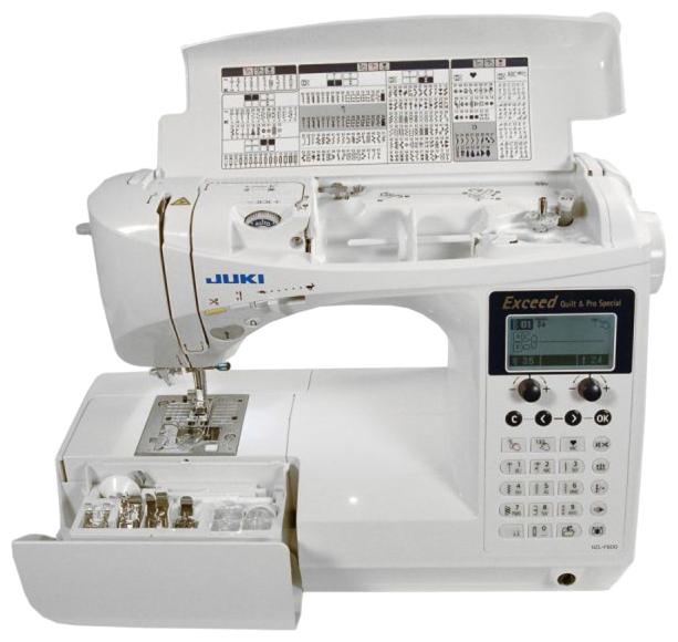 Швейная машина Juki HZL-F600Швейные машины<br><br><br>Тип: электронная<br>Тип челнока: ротационный горизонтальный<br>Вышивальный блок: нет<br>Количество швейных операций: 225<br>Выполнение петли: автомат<br>Число петель: 16<br>Максимальная длина стежка: 5.0 мм<br>Максимальная ширина стежка: 7.0 мм<br>Потайная строчка : есть<br>Эластичная строчка : есть