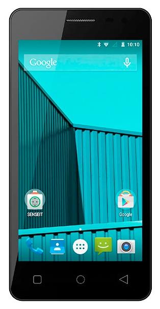Мобильный телефон Senseit E400 BlueМобильные телефоны<br><br><br>Тип: Смартфон<br>Стандарт: GSM 900/1800/1900, 3G<br>Тип трубки: классический<br>Поддержка двух SIM-карт: есть<br>SMS: Есть<br>MMS: Есть<br>Операционная система: Android 5.0<br>Встроенная память: 8 Гб<br>Фотокамера: 8 млн пикс., 3840x2160, светодиодная вспышка<br>Форматы проигрывателя: MP3