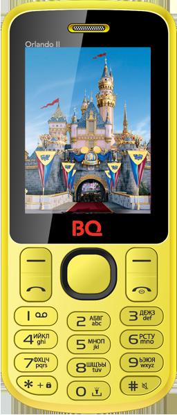Мобильный телефон BQ BQM-2403 Orlando II YellowМобильные телефоны<br><br>