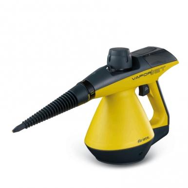 Пароочиститель Ariete 4132 Vapori JetПароочистители<br>Пароочиститель Ariete 4132 Vapori Jet поможет вам сделать уборку быстрой и максимально комфортной. Этот небольшой прибор способен в считанные минуты очистить загрязнения на разных поверхностях, вы можете применить его для чистки плиты, кафеля, крана в ванной комнате от налета, душевой кабинки или жалюзи. Благодаря удобной эргономичной ручке его комфортно держать в руке во время работы. Управлять им просто: достаточно нажать на кнопку на ручке и прибор начнет подачу пара. Пароочиститель безопасен в работе: специальный клапан защитит вас от случайного...<br><br>Мощность нагревателя (Вт): 900<br>Макс. давление пара (бар)  : 3,5