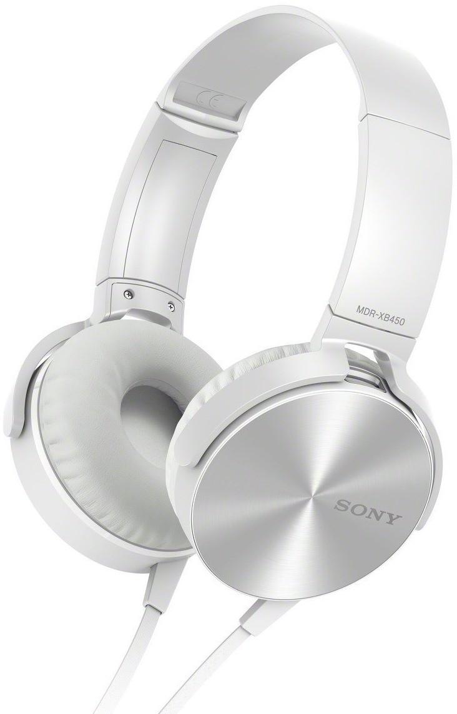 Наушники Sony MDR-XB450AP WhiteНаушники и гарнитуры<br><br><br>Тип: наушники<br>Тип акустического оформления: Закрытые<br>Вид наушников: Накладные<br>Тип подключения: Проводные<br>Диапазон воспроизводимых частот, Гц: 5 - 22000 Гц<br>Сопротивление, Импеданс: 24 Ом<br>Чувствительность дБ: 102 дБ
