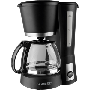 Кофеварка Scarlett SC-038Кофеварки и кофемашины<br>- Вместимость: 4-6 чашки<br>- Многоразовый фильтр<br>- Кофейная мерка<br>- Шкала уровня воды<br>- Световой индикатор работы<br>- Система предотвращения протекания кофе<br>- Встроенная плитка сохраняет кофе горячим<br>- Матовое покрытие корпуса<br><br>Тип : капельная кофеварка<br>Тип используемого кофе: Молотый<br>Мощность, Вт: 600<br>Фильтр  : Постоянный<br>Материал корпуса  : Пластик<br>Плита автоподогрева: Есть<br>Одновременное приготовление двух чашек  : Нет<br>Съемный лоток для сбора капель  : Есть