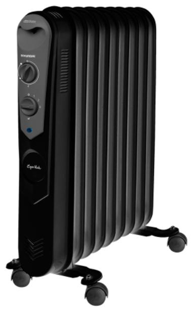 Масляный радиатор Hyundai H-HO5-09-UI900Обогреватели<br><br><br>Тип: масляный радиатор<br>Максимальная мощность обогрева: 2000 Вт<br>Площадь обогрева, кв.м: 20<br>Количество секций: 9<br>Каминный эффект : есть<br>Управление: механическое<br>Регулировка температуры: есть<br>Термостат: есть<br>Выключатель со световым индикатором: есть<br>Отделение для шнура : есть