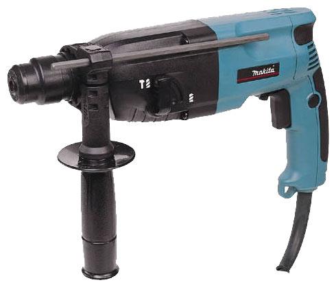 Перфоратор Makita HR2440Перфораторы<br><br><br>Тип крепления бура: SDS-Plus<br>Количество скоростей работы: 1<br>Потребляемая мощность: 780 Вт<br>Макс. энергия удара: 2.7 Дж<br>Макс. диаметр сверления (дерево): 32 мм<br>Макс. диаметр сверления (металл): 13 мм<br>Макс. диаметр сверления (бетон): 24 мм<br>Питание: от сети<br>Шуруповерт: есть<br>Возможности: реверс, предохранительная муфта