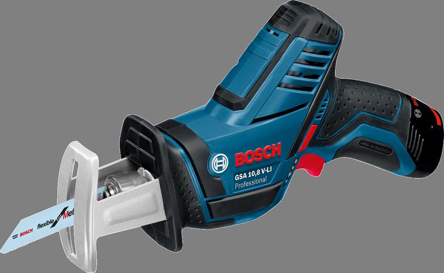 Сабельная пила Bosch GSA 10,8 V-LI [060164L972]Пилы<br>- Система Bosch SDS для быстрой и удобной замены пильных полотен<br>- Уникальная литий-ионная технология класса Premium от Bosch для увеличения срока службы и исключительно долгой работы на одной зарядке аккумулятора<br>- Bosch Electronic Cell Protection &amp;#40;ECP&amp;#41;: система защиты аккумулятора от перегрузки, перегрева и глубокого разряда<br>- Практичный индикатор перегрузки предупреждает о возможной перегрузке инструмента при его длительном использовании<br>- Встроенная светодиодная подсветка для освещения рабочей зоны в тёмных местах<br><br>Тип: сабельная пила<br>Конструкция: ручная<br>Функции и возможности: подсветка, плавная регулировка скорости<br>Дополнительно: размер хода 15 мм. Число ходов в минуту 3000