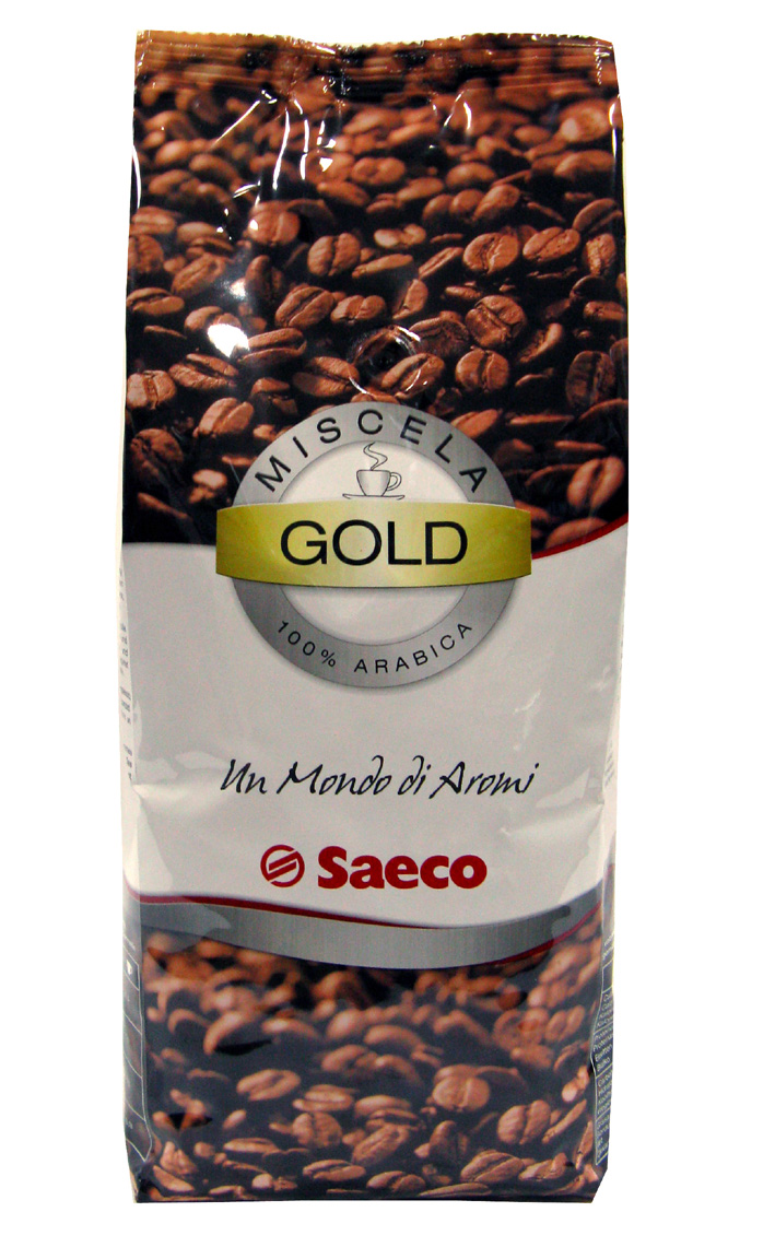 Кофе в зернах Saeco Gold 1 кг.Кофе и чай<br>100% Арабика. Золотая смесь кофе Saeco cоставленная профессиональными технологами и дегустаторами на основе нескольких сортов арабики, выращенной на лучших плантациях Бразилии, Колумбии и Гватемалы. Кофе Saeco Gold дает бархатный вкус с легким шоколадным оттенком, который достигается тщательным подбором сортов кофейных зерен, а не использованием ароматизаторов. Эспрессо получается мягким, очень ароматным с легкой кислинкой и еле заметной шоколадной&amp;nbsp;&amp;nbsp;горчинкой.<br><br>Тип: кофе в зернах<br>Обжарка кофе: средняя<br>Дополнительно: 100% Arabica, золотая смесь кофе с мягким вкусом и нежным ароматом. Для приготовления смеси Saeco Gold использован кофе с плантаций Бразилии, Колумбии и Гватемалы. Кофе с лучших плантаций.