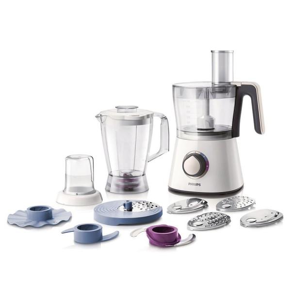 Кухонный комбайн Philips HR7761Кухонные комбайны<br><br><br>Тип: Кухонный комбайн<br>Мощность, Вт: 750<br>Емкость чаши, л: 2<br>Блендер, л: 1