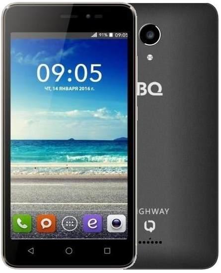 Мобильный телефон BQ BQS-5025 HighWay LTE BlackМобильные телефоны<br><br>