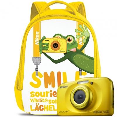 Цифровой фотоаппарат Nikon Coolpix W100 Yellow Backpack kit