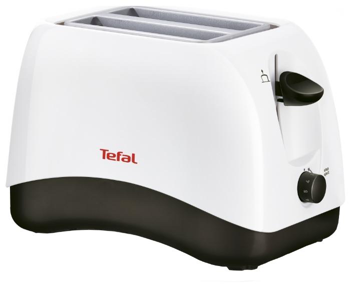 Тостер Tefal TT 130130Тостеры и минипечи<br><br><br>Тип: тостер<br>Мощность, Вт.: 800<br>Тип управления: Механическое<br>Количество отделений: 2<br>Количество тостов: 2