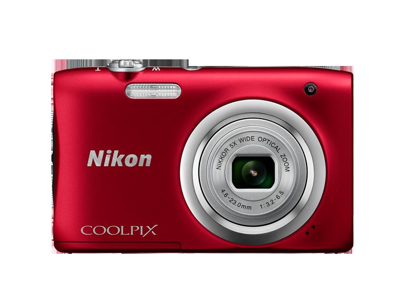 Цифровой фотоаппарат Nikon Coolpix A100 RedЦифровые фотоаппараты<br><br><br>Тип: Цифровой Фотоаппарат<br>Оптическое увеличение: 5<br>Носители информации: micro SD, micro SDHC, micro SDXC<br>Видеорежим: Есть<br>Звук в видеоклипе: Есть<br>Вспышка: Есть<br>Цвет: Красный<br>Кроп фактор: 5.62<br>Тип матрицы: CCD<br>Размер матрицы: 1/2.3