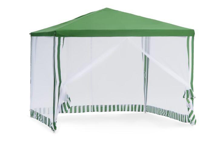 Садовый тент-шатер Green Glade 1036Садовые тенты и шатры<br>Кемпинговый тент шатер оптимален для проведения мероприятий на открытом воздухе. Если вы решили провести пикник на свежем воздухе, вы сможете без труда установить шатер green glade 1036 на любой ровной площадке. Этот тент шатер можно брать с собой на отдых в лесу – в сложенном виде он не занимает много места и легко поместиться в любом автомобиле.<br><br> <br>Тент шатер green glade 1036 изготавливается из современных высококачественных материалов, дачный тент шатер 1036 защитит вас и от яркого летнего солнца. Современный садовый тент шатер green glade быстро и легко устанавливаются,...<br><br>Тип: Садовый тент-шатер<br>Покрытие: полиэстер 160 г<br>Каркас: металлическая трубка (19х19х25 мм)<br>Размеры упаковки: 115х17х23 см