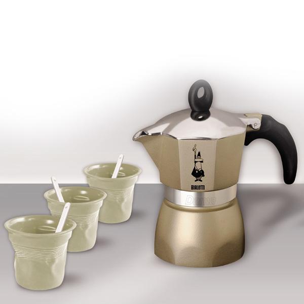 Кофеварка Bialetti Dama 4950Кофеварки и кофемашины<br><br><br>Тип : гейзерная кофеварка<br>Тип используемого кофе: Молотый<br>Объем, л: 0,5 - 1<br>Материал корпуса  : Металл