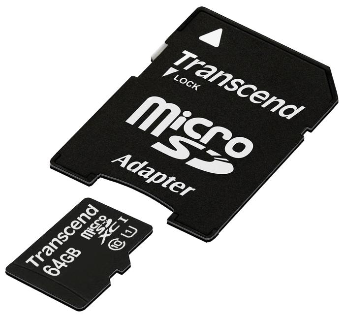 Карта памяти Transcend HC Class10 UHS-1 64Gb / TS64GUSDU1Карты памяти<br><br><br>Тип: Карта памяти<br>Тип карты памяти: microSDXC<br>Объем памяти: 64 Гб<br>Класс скорости: Class10