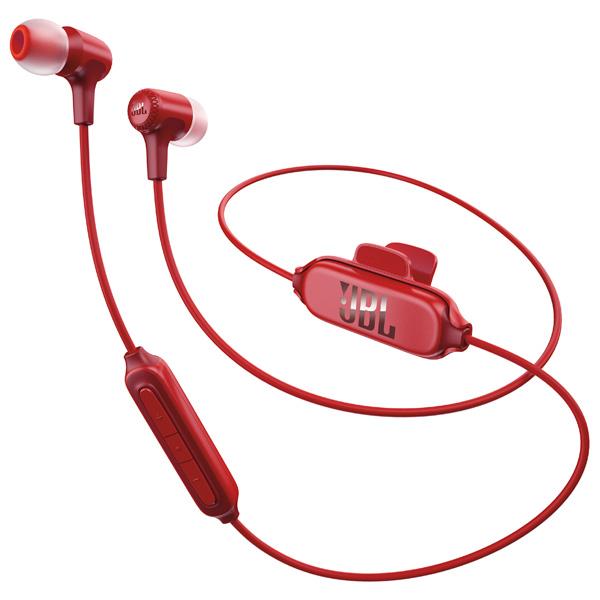 Наушники JBL E25ВТ RedНаушники и гарнитуры<br>Наушники JBL E25BT – компактный гаджет, удобный в использовании благодаря применению сменных силиконовых амбушюров разного размера и клипсы для крепления к одежде. На коротком проводе расположен трёхкнопочный пульт со встроенным микрофоном, позволяющий отвечать на звонки, переключать треки и изменять громкость, не доставая смартфон из кармана. <br><br>- ПОЛНАЯ СВОБОДА ДЕЙСТВИЙ<br>Наушники могут одновременно подключаться к трём Bluetooth-устройствам – например, к смартфону, планшету и портативному плееру. Пользователю остаётся только выбрать активный в ...<br><br>Тип: гарнитура<br>Вид наушников: Вставные<br>Тип подключения: Беспроводные<br>Диапазон воспроизводимых частот, Гц: 20 - 20000<br>Сопротивление, Импеданс: 16 Ом<br>Микрофон: есть