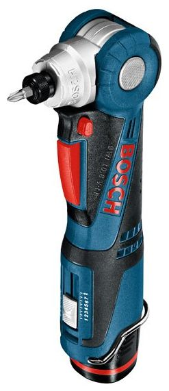 Угловая дрель-шуруповерт Bosch GWI 10,8 V-LI 2.0Ah x2 L-BOXX [0601360U0D]Дрели, шуруповерты, гайковерты<br>Самый компактный угловой шуруповерт с литий-ионным аккумулятором<br><br>Потребительские преимущества<br><br>- Подходит для универсального применения, прежде всего в узких и труднодоступных местах, благодаря 5 положениям регулируемой головки: 0°/22,5°/45°/67,5°/90°<br>- Очень компактный: оснащен регулируемой головкой размером 9,5 см – самой короткой из представленных на рынке<br>- 7-ступенчатая электронная регулировка крутящего момента &amp;#43; режим для сверления<br><br>Дополнительные преимущества<br><br>- Bosch Electronic Cell Protection &amp;#40;ECP&amp;#41;: система защиты аккумулятора от перегрузки, перегрева...<br><br>Тип: угловая дрель-шуруповерт<br>Тип инструмента: угловой<br>Тип патрона: под биты<br>Количество скоростей работы: 1<br>Питание: от аккумулятора<br>Тормоз двигателя: есть<br>Возможности: реверс, электронная регулировка частоты вращения<br>Тип аккумулятора: Li-Ion<br>Время зарядки аккумулятора: 0.5 ч<br>Съемный аккумулятор: есть