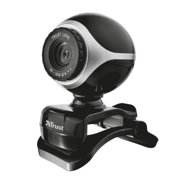 Веб камера Trust Exis Webcam Black-Silver (17003)Веб-камеры<br><br>