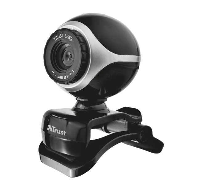 Веб камера Trust Exis Webcam Black-Silver (17003)