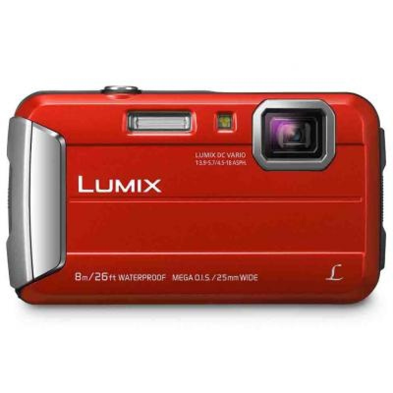 Цифровой фотоаппарат Panasonic Lumix DMC-FT30 RedЦифровые фотоаппараты<br>Корпус фотоаппарата DMC-FT30 максимально надежен:<br><br>- Материалы и дизайн корпуса обеспечивают водонепроницаемость до 8 м и пылезащиту, соответствующие стандартам IPX8 и IPX6.<br>- Камера защищена от ударов — в соответствии со стандартом MIL-STD 810F Method516.5-Shock выдерживают падение с высоты до 1.5 метров.<br>- Все компоненты камеры, в том числе и объектив, способны выдерживать температуру до -10°С.<br><br>Фотоаппараты DMC-FT30 оснащены широкоугольным объективом с 4x оптическим зумом. Благодаря фокусному расстоянию 25-100 мм &amp;#40;в эквиваленте 35 мм камеры&amp;#41; объектив превосходно подходит...<br><br>Тип: Цифровой Фотоаппарат<br>Оптическое увеличение: 4x<br>Цифровое увеличение: 4x<br>Стабилизатор изображения: Оптический<br>Видеорежим: Есть<br>Звук в видеоклипе: Есть<br>Вспышка: Есть<br>Цвет: Красный<br>Кроп фактор: 5.7<br>Тип матрицы: CMOS