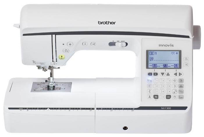 Швейная машина Brother Innov-is NV1300Швейные машины<br>Швейная машина Brother NV 1300 – модель, способная выполнять 192 самые различные швейные операции. При этом в автоматическом режиме могут выполняться 10 различных видов петель. Челнок – классический, общепринятого горизонтального типа. При проколе иглы своевременно срабатывает электронный стабилизатор. Имеется кнопка для регулирования давления, производимого при прижиме лапки на ткань.<br><br>Так же имеются кнопки закрепки и автоматической обрезки нити. Вы можете в любой момент включить функцию запоминания уже сделанных строчек – особенно нужна такая...<br><br>Тип: электронная<br>Тип челнока: ротационный горизонтальный<br>Вышивальный блок: нет<br>Количество швейных операций: 182<br>Выполнение петли: автомат<br>Число петель: 10<br>Максимальная длина стежка: 5.0 мм<br>Максимальная ширина стежка: 7.0 мм<br>Кнопка реверса: есть<br>Регулировка давления лапки на ткань: есть