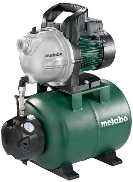Насос Metabo HWW 3300/25 G [600968000]Насосы<br>- Насосная станция собрана на новом насосе Metabo P 3300 G и выдает до 3,3 кубов воды в час. Сам по себе насос неприхотлив в работе, компактен и надежен.<br>- Система защиты от перегрузки предохраняет мотор от повреждений при длительной эксплуатации. &amp;#40;Эта система НЕ исключает защиту от сухого хода&amp;#41;<br>- Metabo HWW 3300/25 G имеет ресивер объемом 24 литра, что позволяет иметь неплохой запас воды и поддерживать комфортную работу станции - без рывков и скачков напора воды.<br>- Упрощенный ввод в эксплуатацию и подготовка к зимовке, благодаря отдельным отверстиям для заливки...<br><br>Глубина погружения: 8 м<br>Максимальный напор: 45 м<br>Пропускная способность: 3.3 куб. м/час<br>Напряжение сети: 220/230 В<br>Потребляемая мощность: 900 Вт<br>Качество воды: чистая<br>Установка насоса: горизонтальная