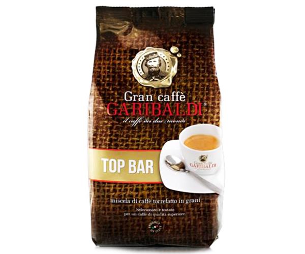 Кофе в зернах Garibaldi Top Bar 1 кгКофе, какао<br>В кофе GARIBALDI Top Bar собраны только самые лучшие, элитные сорта арабики. Обжаривались зерна до средне-тёмной степени, вкус деликатный мягкий, слегка кисловато-сладкий. Невероятно приятный, сладковатый орехово-карамельный аромат, перед которым невозможно устоять. Приятное, стойкое послевкусие закрепит Вашу любовь к данному напитку.<br><br>Тип: кофе в зернах<br>Степень обжарки: средняя<br>Состав: 100% Арабика<br>Дополнительно: упаковка: фольгированный пакет с клапаном