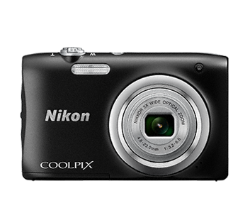 Цифровой фотоаппарат  Nikon Coolpix A100 BlackЦифровые фотоаппараты<br>- Стильная, компактная и простая в использовании<br>Эта стильная фотокамера настолько компактна и легка &amp;#40;ее вес — всего 119 г вместе с батареей и картой памяти SD&amp;#41;, что она практически неощутима в сумке или кармане, и поэтому ее можно носить с собой повсюду. Кроме того, она проста в использовании, поэтому вы всегда будете готовы запечатлеть нужный момент.<br><br>- Объектив Nikkor с 5-кратным оптическим зумом<br>Универсальный широкоугольный объектив Nikkor с 5-кратным оптическим зумом &amp;#40;26–130 мм в эквиваленте формата 35 мм&amp;#41; позволяет не только создавать групповые...<br><br>Тип: Цифровой Фотоаппарат<br>Оптическое увеличение: 5<br>Носители информации: micro SD, micro SDHC, micro SDXC<br>Видеорежим: Есть<br>Звук в видеоклипе: Есть<br>Вспышка: Есть<br>Цвет: Чёрный<br>Кроп фактор: 5.62<br>Тип матрицы: CCD<br>Размер матрицы: 1/2.3