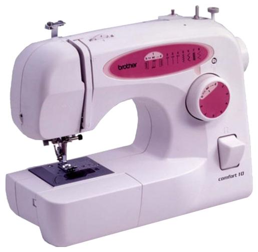 Швейная машина Brother Comfort 10Швейные машины<br><br><br>Тип: электромеханическая<br>Вышивальный блок: нет<br>Количество швейных операций: 8<br>Выполнение петли: полуавтомат<br>Максимальная длина стежка: 4 мм<br>Максимальная ширина стежка: 5.0 мм<br>Эластичная строчка : есть<br>Кнопка реверса: есть<br>Система измерения размера пуговиц: есть<br>Регулировка скорости шитья: плавная