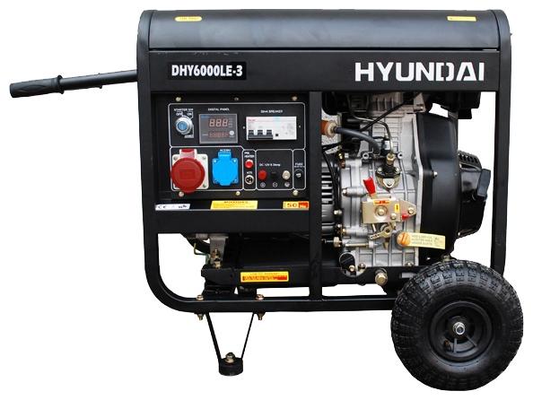 Электрогенератор Hyundai DHY-6000 LE-3