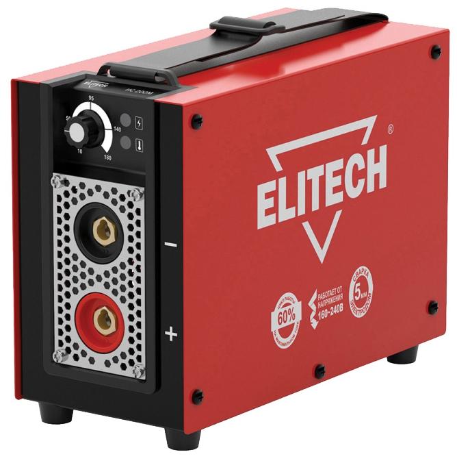 Сварочный аппарат Elitech ИС 200МСварочные аппараты<br>ELITECH ИС 200М - это сварочный инвертер, который предназначен для проведения периодических строительных и ремонтных работ. . Применяется для сварки углеродистых, нержавеющих сталей и чугуна.<br><br>- ультрамалый вес и габариты - позволяют с легкостью использовать аппараты, особенно при монтажных работах на высоте. <br>- работа от пониженного напряжении 160 вольт!!! - позволяет использовать аппарат в таких местах, где напряжение существенно ниже нормы &amp;#40;удаленные населенные пункты, сельская местность, дачи, гаражи, базы и прочие объекты&amp;#41;, где обычный инвертор...<br><br>Тип: сварочный инвертор<br>Сварочный ток (MMA): 10-180 А<br>Напряжение на входе: 154-253 В<br>Количество фаз питания: 1<br>Напряжение холостого хода: 85 В<br>Тип выходного тока: постоянный<br>Мощность, кВт: 4.10<br>Продолжительность включения при максимальном токе: 60 %<br>Диаметр электрода: 1.60-5 мм<br>Класс изоляции: H