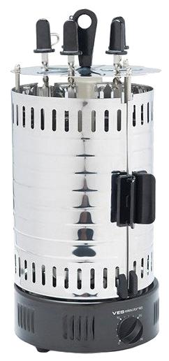 Шашлычница VES G 111Домашние помощники<br><br><br>Тип: шашлычница<br>Мощность, Вт.: 1000<br>Цвет: серебро