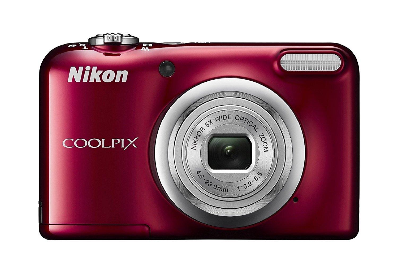 """Цифровой фотоаппарат Nikon Coolpix A10 RedЦифровые фотоаппараты<br>Компактный цифровой фотоаппарат Nikon Coolpix A10 оснащен CCD-матрицей размером 1/2.3"""". Общее количество пикселей приблизительно составляет 16.44 миллиона. Камера способна создавать реалистичные снимки с высокой детализацией и максимальным размером кадра 4608х3456 пикселей. Диапазон чувствительности ISO варьируется от 80 до 1600 единиц.<br><br>- Объектив<br>Устройство получило фирменный объектив Nikkor. Конструкция позволяет осуществлять 5-кратное оптическое увеличение. Фотоаппарат качественно приближает объекты на большом расстоянии и не создает шумов. Фокусное расстояние...<br><br>Тип: Цифровой Фотоаппарат<br>Стабилизатор изображения: Цифровой<br>Вспышка: Есть<br>Цвет: Красный<br>Кроп фактор: 5.62<br>Тип матрицы: CCD<br>Размер матрицы: 1/2.3<br>Количество эффективных мегапикселей: 16.1<br>Чувствительность: 80 - 1600 ISO, Auto ISO"""
