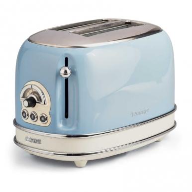 Тостер Ariete 155/15 VintageТостеры и минипечи<br>Тостер Ariete 155 – стильный прибор, с помощью которого вы сможете приготовить по-настоящему вкусные тосты. Если вам нравится итальянский винтаж, эта модель – именно то, что вы ищите. Корпус прибора металлический, тостер компактный и очень удобный. Он имеет мощность 810 Вт, чего вполне достаточно для быстрого приготовления аппетитной закуски. Вес прибора составляет меньше двух килограммов, поэтому вы сможете взять его с собой на дачу или в отпуск.<br><br>- Возможности<br>Купить Ariete 155 – получить современный тостер, который имеет самые необходимые функции. Он...<br><br>Тип: тостер<br>Мощность, Вт.: 810<br>Количество отделений: 2<br>Количество тостов: 2