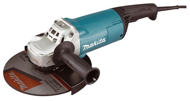 Угловая шлифмашина Makita GA9060Шлифовальные и заточные машины<br>Угловая шлифовальная машина Makita GA 9060:<br><br>- Длинная угольная щетка обеспечивает длительный срок службы инструмента<br>- Мягкая рукоятка с резиновыми вставками обеспечивает надежное управление и удобство при работе с инструментом<br>- Боковая рукоятка для удобной работы с инструментом<br>