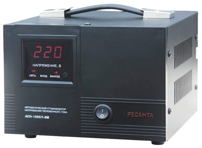 Стабилизатор напряжения Ресанта ACH-1000/1-ЭМСетевые фильтры и стабилизаторы<br><br><br>Тип: стабилизатор напряжения