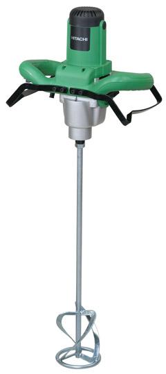 Строительный миксер Hitachi UM12VSTДрели, шуруповерты, гайковерты<br>Миксер Hitachi UM12VST - это двухскоростной электроинструмент мощностью 1100 Вт. Он имеет плавный пуск - для комфортного начала рабочего процесса. С помощью цифровой шкалы и 2-скоростной передачи можно отрегулировать скорость. Максимальный диаметр насадки составляет 120 мм.<br>