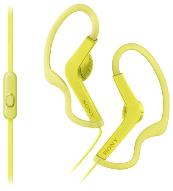 Наушники Sony MDR-AS210AP YellowНаушники и гарнитуры<br><br><br>Тип: наушники<br>Тип акустического оформления: Открытые<br>Вид наушников: Вкладыши<br>Тип подключения: Проводные<br>Диапазон воспроизводимых частот, Гц: 17 - 22000<br>Сопротивление, Импеданс: 16 Ом<br>Чувствительность дБ: 104<br>Микрофон: есть