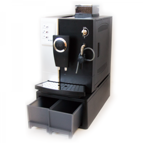 Кофемашина Colet Q003B (увеличенные контейнеры для кофе и отходов)Кофеварки и кофемашины<br>Кофемашина Colet для приготовления эспрессо и капучино - бюджетный аналог легендарной кофемашины Saeco VIENNA. Относится к сегменту профессиональных кофемашин. Подходит для использования в ресторане, кафе, офисе. Идеальный выбор по качеству и цене.<br><br>Тип используемого кофе: Зерновой\Молотый<br>Мощность, Вт: 1250<br>Объем, л: 2<br>Давление помпы, бар  : 19<br>Материал корпуса  : Пластик<br>Емкость контейнера для зерен, г  : 500