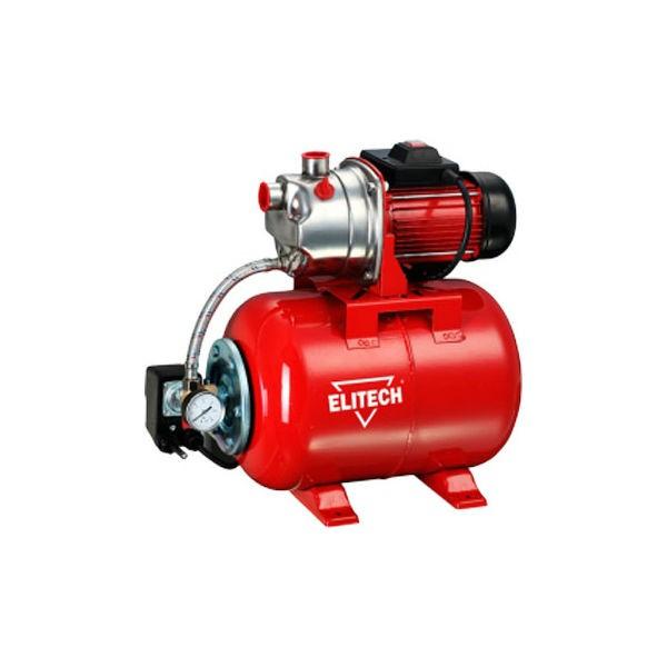 Насос Elitech САВ 800Н/24ФНасосы<br>Насосная станция Elitech САВ 800Н/24Ф - установка повышения давления. Напорный бак имеет объем 24 литра. Насос накачивает воду из источника в бак. Аппарат подходит для водоснабжения дома и дачи. Корпус насоса изготовлен из нержавеющей стали, что гарантирует долговечность. Двигатель обеспечивает напор до 38 метров.<br><br>Глубина погружения: 5 м<br>Максимальный напор: 40 м<br>Пропускная способность: 5.5 куб. м/час<br>Напряжение сети: 220/230 В<br>Потребляемая мощность: 800 Вт<br>Качество воды: чистая<br>Установка насоса: горизонтальная