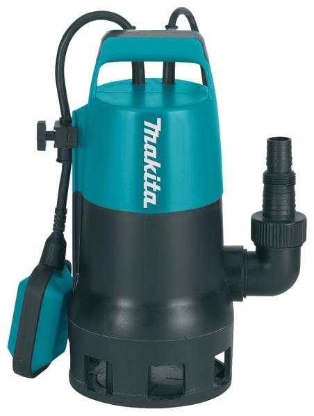Насос Makita PF0410Насосы<br><br><br>Глубина погружения: 5 м<br>Максимальный напор: 5 м<br>Пропускная способность: 7.2 куб. м/час<br>Напряжение сети: 220/230 В<br>Потребляемая мощность: 400 Вт<br>Качество воды: грязная<br>Размер фильтруемых частиц: 35 мм<br>Установка насоса: вертикальная