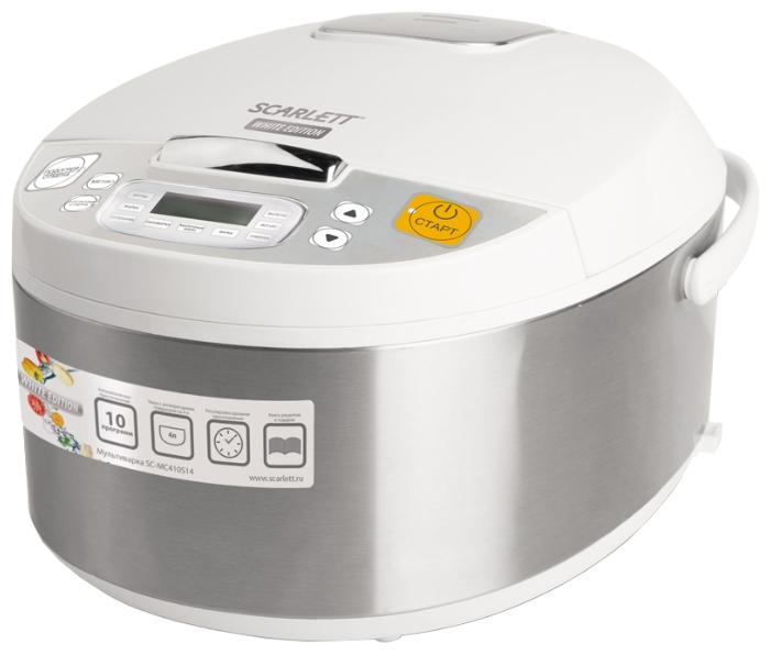 Мультиварка Scarlett SC-MC410S14Мультиварки и пароварки<br>Компактная и простая в использовании мультиварка Scarlett SC-MC410S14 с корпусом из пластика и металла – современная кухонная техника, в которой можно быстро и с минимумом хлопот приготовить вкусную еду.<br><br>АВТОМАТИЧЕСКОЕ ПРИГОТОВЛЕНИЕ<br>Разработчики предусмотрели 9 автоматических программ, делающих приготовление пищи особенно простым. Достаточно заложить необходимые продукты, а дальше мультиварка всё сделает без вмешательства владельца.<br><br>ПОДДЕРЖАНИЕ ТЕПЛА<br>В течение некоторого времени после приготовления блюдо остается теплым. Благодаря этому владельцу...<br><br>Тип  : мультиварка<br>Общий объем, литров  : 4<br>Максимальная потребляемая мощность, Вт   : 700<br>Тип управления  : Электронное