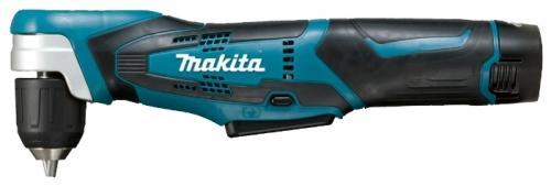 Дрель-шуруповерт Makita DA331DZДрели, шуруповерты, гайковерты<br>- Предназначена для строительства и ремонта, сборки мебели, монтажа и демонтажа различных конструкций при работе в ограниченных пространствах<br>- Компактные формы и малый вес<br>- Современный дизайн<br>- Быстрозажимной патрон 10 мм<br>- Встроенная светодиодная подсветка<br>- Широкая кнопка регулировки скорости<br>- Удлиненный корпус для удобной работы двумя руками<br>- Эргономичная рукоятка с резиновыми вставками<br>- Плавная регулировка скорости<br>- Электрический тормоз для быстрой и точной работы<br>- Поставляется без аккумулятора и зарядного устройства<br><br>Тип: дрель-шуруповерт<br>Тип инструмента: угловой<br>Тип патрона: быстрозажимной<br>Количество скоростей работы: 1<br>Питание: от аккумулятора<br>Тормоз двигателя: есть<br>Возможности: реверс, электронная регулировка частоты вращения<br>Съемный аккумулятор: есть