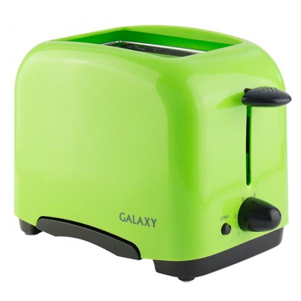 Тостер Galaxy GL 6111Тостеры и минипечи<br>Хрустящие и ароматные тосты – лучший завтрак.&amp;nbsp;&amp;nbsp;Компактный и надежный тостер Galaxy с функцией автоматического центрирования равномерно поджарит ломтики хлеба с обеих сторон и позволит готовить тосты именно так, как Вам нравится.<br><br>Тип: тостер<br>Мощность, Вт.: 800<br>Тип управления: Механическое<br>Количество отделений: 2<br>Количество тостов: 2