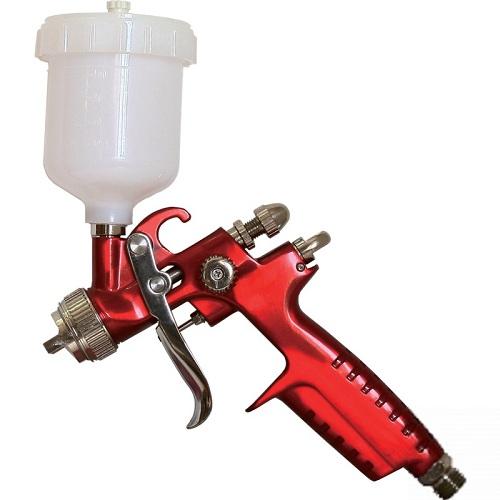 Краскопульт Калибр КРП-1,0/0,12ВБ ПРОФИКраскопульты<br>Краскораспылитель пневматический <br>Калибр КРП-1,0/0,12ВБ ПРОФИ предназначен для нанесения красочных составов, путём распыления их сжатым воздухом.<br><br>Тип: краскопульт<br>Мощность Вт: 280<br>Производительность: 125 л/мин<br>Объем контейнера: 120 мл<br>Описание: ширина распыления 100-150 мм