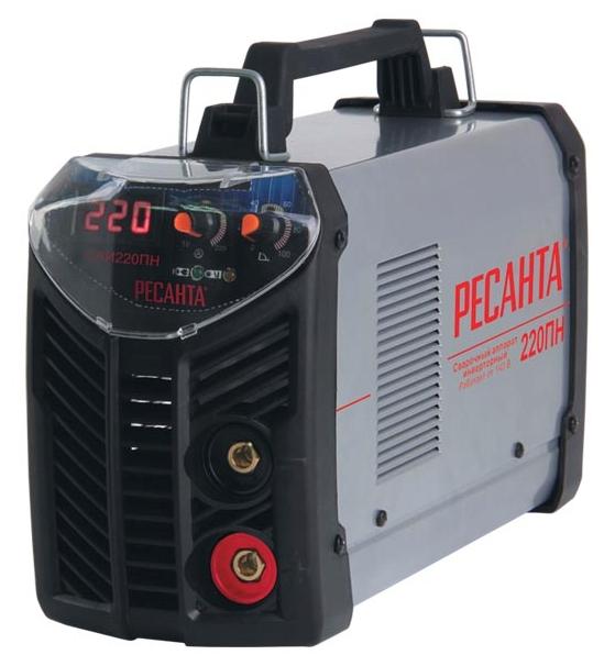 Сварочный аппарат Ресанта САИ-220ПНСварочные аппараты<br><br><br>Тип: сварочный инвертор<br>Сварочный ток (MMA): 10-220 А<br>Напряжение на входе: 140-260 В<br>Количество фаз питания: 1<br>Напряжение холостого хода: 80 В<br>Тип выходного тока: постоянный<br>Мощность, кВт: 6.6<br>Продолжительность включения при максимальном токе: 70 %<br>Диаметр электрода: 5 мм<br>Антиприлипание: есть