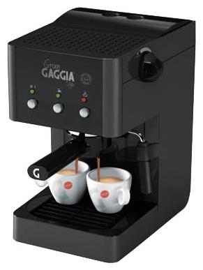 Кофемашина Gaggia Gran Style BlackКофеварки и кофемашины<br>Новая модель от итальянской компании Gaggia — стильная маленькая кофемашина Gaggia Gran Style, созданная для приготовления эспрессо и кофейно-молочных напитков на домашней кухне.<br><br>Рожок имеет удобную ручку и клапан «crema» для создания качественной стойкой кофейной пенки на эспрессо. Машина оснащена трубкой пара с насадкой «панарелло» для взбивания молока. При желании трубка переключается в режим подачи горячей воды для приготовления горячих напитков или чая.<br><br>Специально выделенное место для мелкосетчатых фильтров и мерной ложки создаст идеальные условия...<br><br>Тип используемого кофе: Молотый\Чалды<br>Мощность, Вт: 1050<br>Объем, л: 1.25<br>Давление помпы, бар  : 15<br>Материал корпуса  : Пластик<br>Одновременное приготовление двух чашек  : Есть<br>Съемный лоток для сбора капель  : Есть
