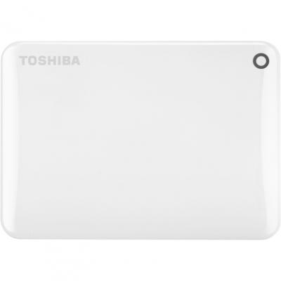 Внешний жесткий диск Toshiba Canvio Connect II 1TB White (HDTC810EW3AA)Внешние жесткие диски<br><br>