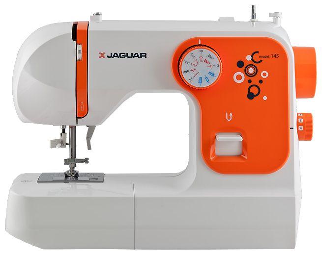 Швейная машина Jaguar 145Швейные машины<br><br><br>Тип: электромеханическая<br>Вышивальный блок: нет<br>Количество швейных операций: 18<br>Выполнение петли: полуавтомат<br>Потайная строчка : есть<br>Эластичная потайная строчка: есть<br>Кнопка реверса: есть<br>Отключение механизма подачи ткани : есть<br>Рукавная платформа: есть<br>Нитевдеватель: есть